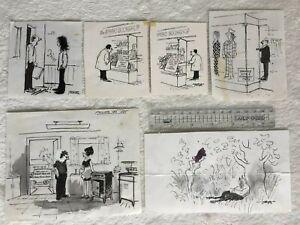 Leslie Starke New Yorker artist Original Cartoons Nude published in Private Eye