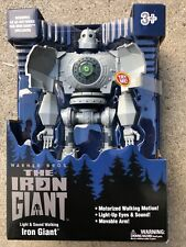 """New listing Goldlok The Iron Giant 14"""" Motorized Walking Iron Giant Light Up Yes Sounds New"""