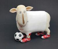 New Wayne  A7623 Ewe & Me Sheep with football soccer uniform shoes  figurine