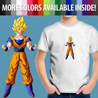 Toddler Kids Tee Youth T-Shirt Gift Print Super Saiyan Son Goku Anime Cartoon