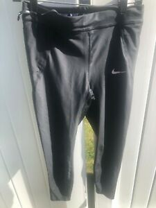 Womens NIKE DRI FIT Leggings Medium Black Running New Without Tag