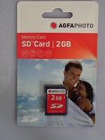 1 St. Agfaphoto SD Memory Card Speicherkarte 2GB Secure Digital