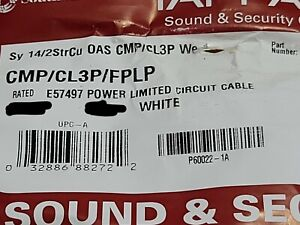 Southwire/Tappan 14/2C Plenum Shielded Security/Communication Cable White /50ft