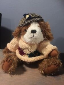 """The Brass Button """"Dog Of Friendship"""" AUGIE Dog Stuffed Animal Plush Toy Size:12"""""""