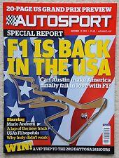 AUTOSPORT MAGAZINE 15th NOVEMBRE 2012