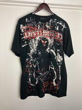 Disturbed T-Shirt L Rock Metal Band Slipknot 2000s 90s Concert Ozzfest