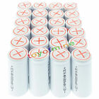 24x Sub C SubC With Tab 6000mAh 1.2V Ni-MH Rechargeable Battery White High Power
