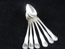 6 petites cuillères modèle au filet violoné métal argenté Boulenger spoons
