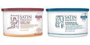 SATIN SMOOTH Titanium Blue Thin Film Hard Wax / Honey Wax 14oz NEW