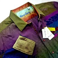 Robert Graham ROO'S NEBULA $398 LIMITED EDITION Embroidered Geometric Shirt