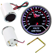 """Car Motor Smoke Tint Len 2"""" 52mm Indicator Volt Voltage Gauge Kit Meter YY"""