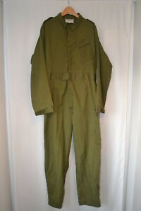 Vintage RAF olive work wear boiler suit cover all size large 180/ 108 work wear