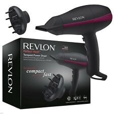 Revlon Womens Tempest Professional Compact Power Hairdryer with  Diffuser 2000W