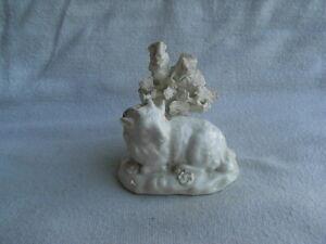 Rare Derby? White Glazed Porcelain Figure - Recumbent Sheep