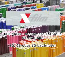 3,95€/m² Plotterfolie glänzend x-film 63 cm x 10 m Selbstklebefolie Autofolie