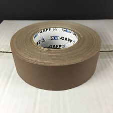 """Pro-Gaff Gaffer Tape - 2"""" x 55 yd. - BROWN PG2-BR - Pro Tapes & Specialties"""