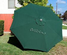 GREEN Umbrella Canopy 9 FT 8 Ribs Top Patio Market Outdoor Replacement Cover Cc