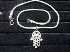 ciondolo mano di fatima con collana snake 46 48 cm spessa 3mm circa   necklace