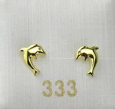 Kinderschmuck Ohrstecker Kinder Kinderohrstecker Delfin 333 Gold NEU
