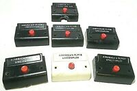 Seven American Flyer No. XA10961 Control Boxes for Operating Cars & Accessories