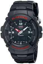 Casio G100-1B Men's G-Shock Ana-Digi Dual Time Black Resin Watch