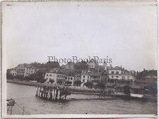 Scène au bord de l'eau Ville à identifier France Vintage argentique