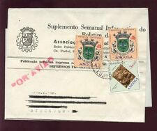 ANGOLA 1971 AIRMAIL NEWSPAPER WRAPPER to SWEDEN