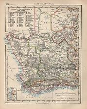 1897 Vittoriano MAP ~ COLONIA DEL CAPO occidentale ~ con le divisioni elettorali walfisch Bay