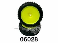 06028 RUOTE + CERCHI GIALLI ANT. SEALED FRONT WHEEL ESAGONO INT.12mm HIMOTO 2PZ