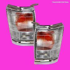 Toyota Hilux 97-01 Ute Chrome Clear Corner Indicator Light Lamps Right Left Side