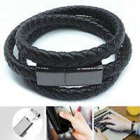 USB Bracelet Charger Data Charging Cable Sync Cord For IOS Android Type-C Relief