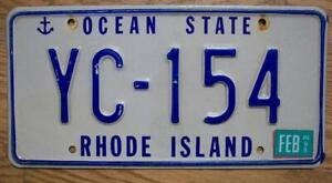 SINGLE RHODE ISLAND LICENSE PLATE - 1998 - YC-154 - OCEAN STATE