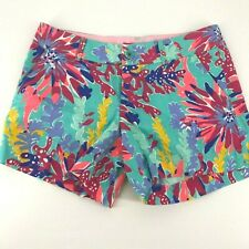 womens shorts lilly pultzer floral callahan size 6 multicolor