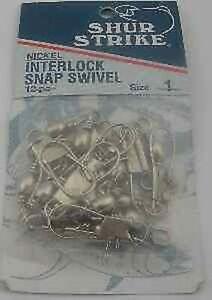Sea Striker NISS 1 Nickel Interlock Snap Swivel 12Ct Size 1