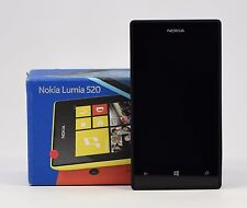"OPEN BOX - Nokia Lumia 520 Black RM-914 (FACTORY UNLOCKED) 4"" IPS , 8GB"