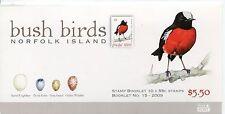 2009 Norfolk Island Bush Birds MUH $5.50 Stamp Booklet With Gutter Block of 10
