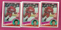 3 X 1984-85 OPC # 63 RED WINGS BRAD PARK NRMT CARD (INV# C2140)