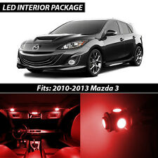 2010-2013 Mazda 3 Red Interior LED Lights Package Kit MazdaSpeed 3