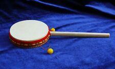 Stab-Trommel 8 cm,Karate Gebetstrommel, Affentrommel, Peru Instrument Perkussion