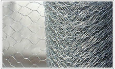 1050mm x 31mm x 20 x  50m Rabbit wire Netting fencing chicken Galvanised