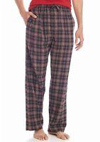 Saddlebred - Mens S -  NWT - Red/Ebony Plaid Flannel Lounge/Sleep Pajama Pants