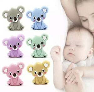 1Pcs Cartoon Baby Animal Silicone Teethers Grade Necklace beads development Toys