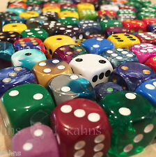 Chessex Half ( 1/2 ) Pound d6 Dice - 6 - sided Pound of Dice Free Bag  6 sided