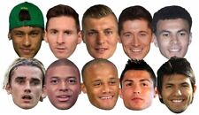 Football Stars World Cup 2018 Party Mask Set of 10 Pack with Ronaldo Messi Alli