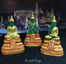 EMERALD BUDDHA Statue 3 Seasons Apparels Blessed Sacred Worship Jade Resin 3.5""