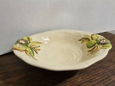 More details for clarice cliff fluted large oval water lily dish bowl dish newport factory 999