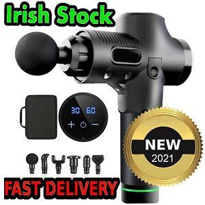 Massage Gun Fitness 30 SPEED LCD Vibration Muscle Massaging Massager Roller Foam