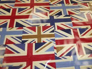 2.5 metres - UNION JACK - PVC / Tablecloth / Oilcloth Fabric from PRESTIGIOUS