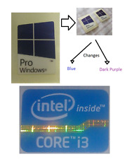 Intel i3 Core Libre Etiqueta Engomada de la computadora con Windows PC 10 Genuino 7 de escritorio 8 Computadora portátil