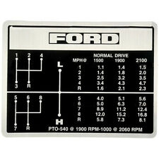 Shift Pattern Decal Fits Ford 5000 5600 6600 6700 7000 7600 Replaces D3nn7b292b